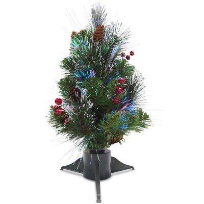 1.5 ft. Fiber Optic Crestwood Spruce Artificial Christmas Tree