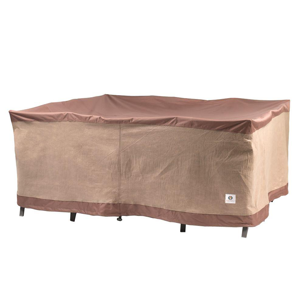 Duck Covers Ultimate 92 in  Square Patio Table and Chair Set Cover UTS09292    The Home Depot. Duck Covers Ultimate 92 in  Square Patio Table and Chair Set Cover