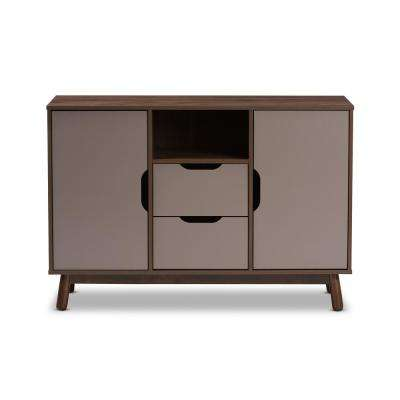 Britta Brown and Grey Sideboard