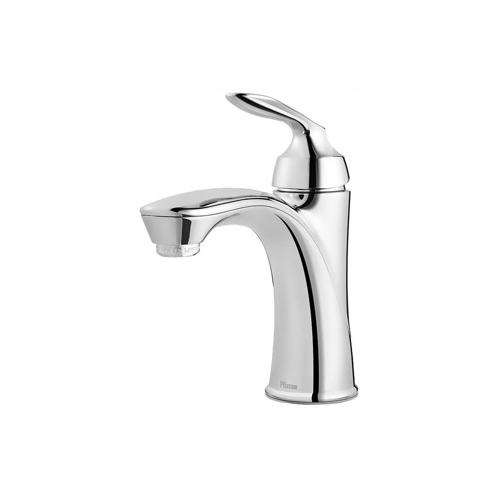 Avalon Single Hole Single-Handle Bathroom Faucet in Polished Chrome
