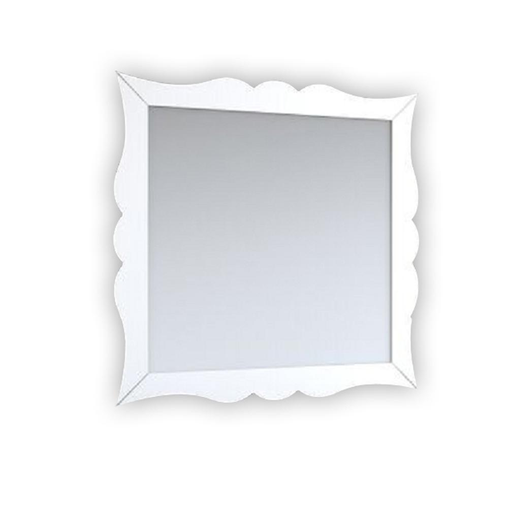 Aranjuez 32 in. x 30 in. Bathroom Vanity Mirror Full Frame White Wall Mount
