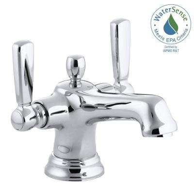 Bancroft 4 in. Centerset 2-Handle Low-Arc Bathroom Faucet in Polished Chrome