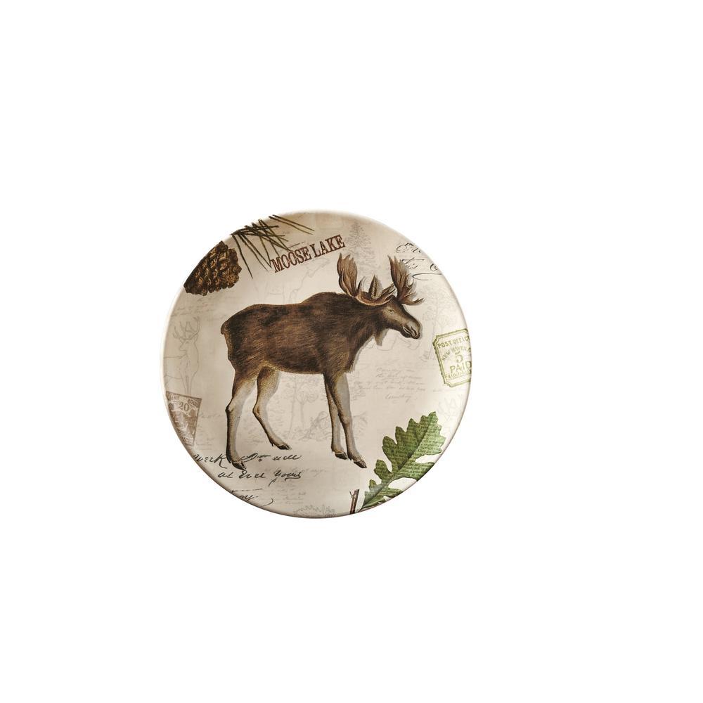 Wildlife Trail Tan Moose Salad Plate (Set of 4)