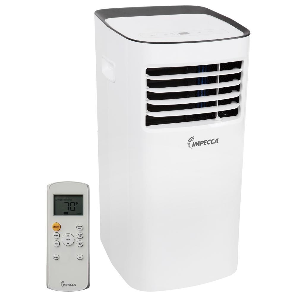 Impecca 8,000 BTU Portable Air Conditioner with Dehumidifier and Remote