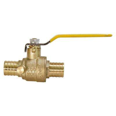 1/2 in. Full Port PEX Barb Ball Valve Water Shut Off with Drain