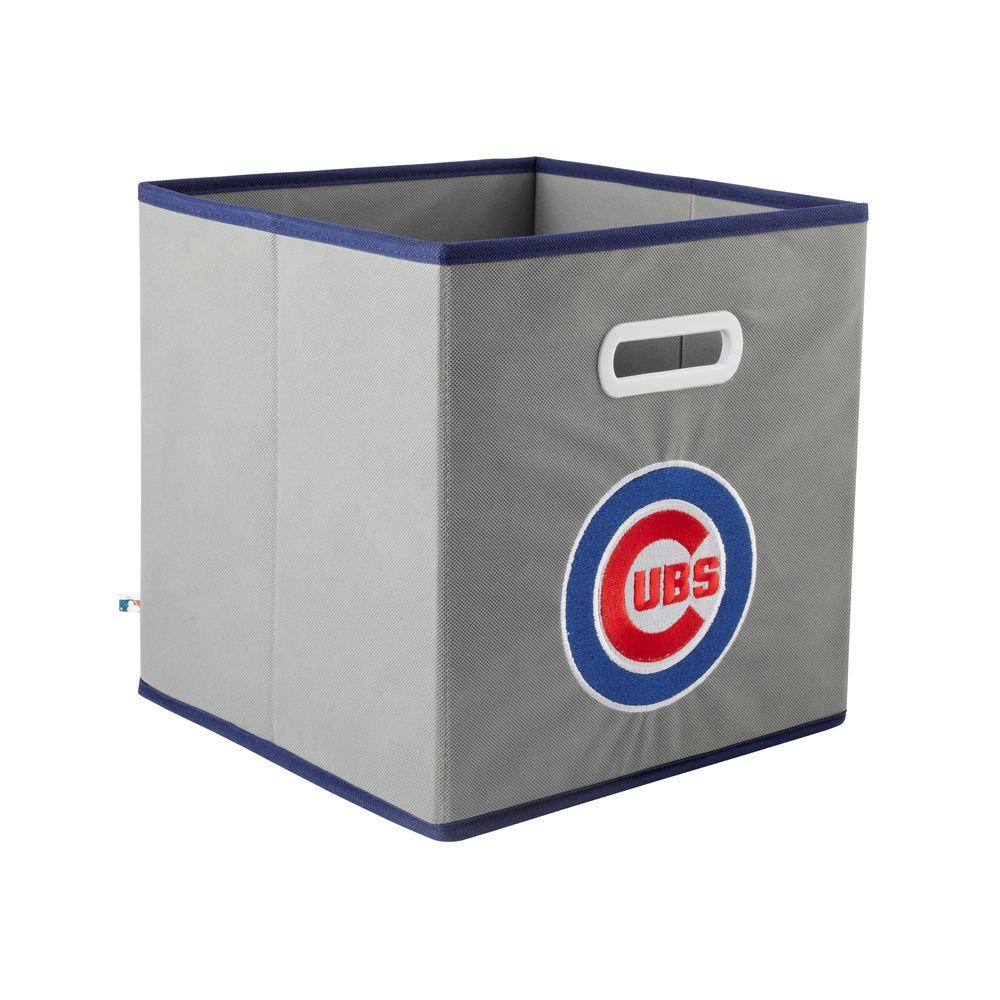 MyOwnersBox MLB STOREITS Chicago Cubs 10-1/2 in. x 10-1/2 in. x 11 in. Grey Fabric Storage Drawer