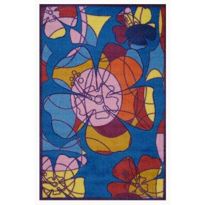 Supreme Retroactive Multi Colored 39 in. x 58 in. Area Rug