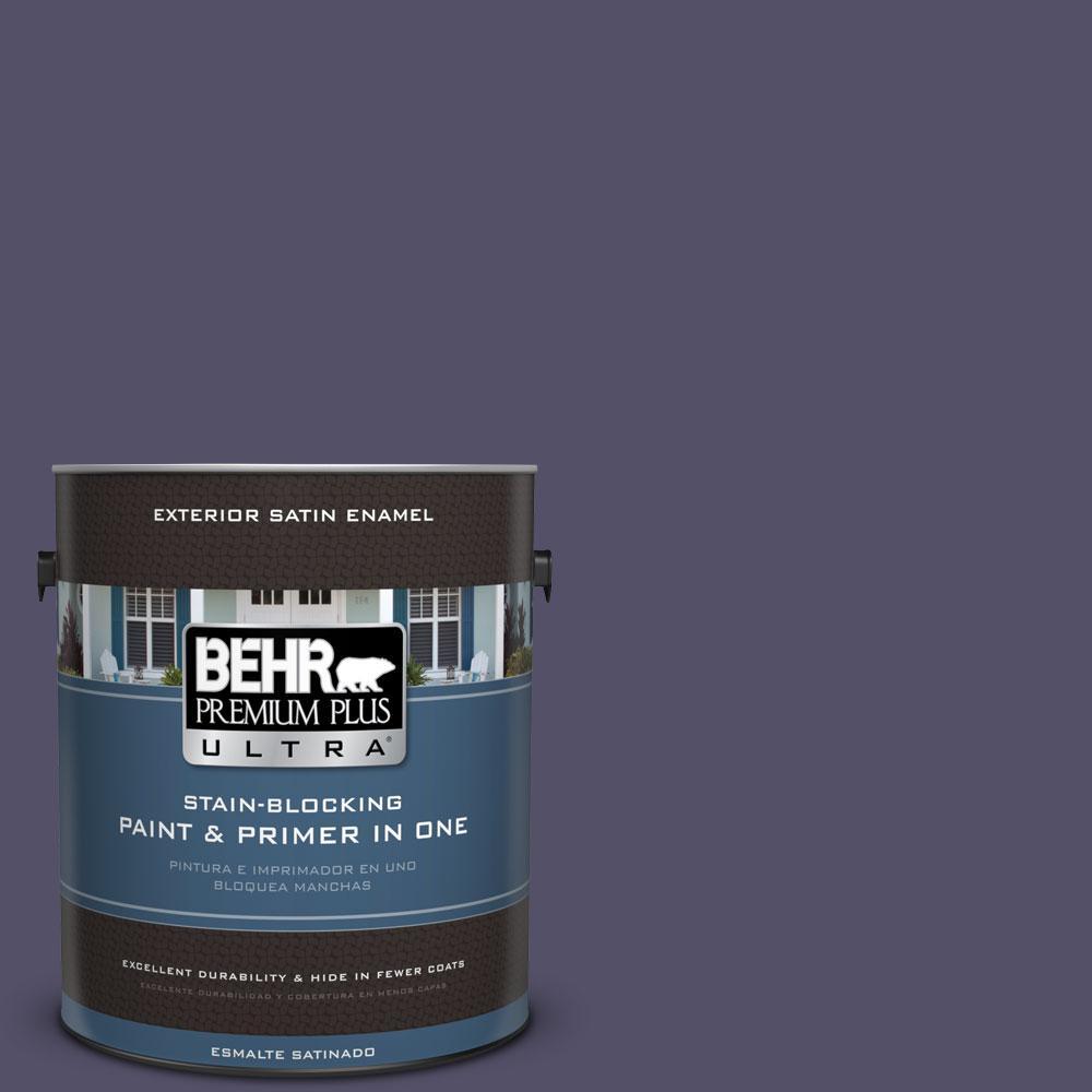 BEHR Premium Plus Ultra 1-gal. #PPU16-19 Mardi Gras Satin Enamel Exterior Paint