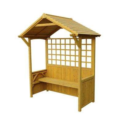 95 in. x 80 in. Barbeque Shelter 2-in-1 Seated Party Arbor