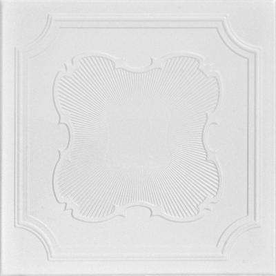Coronado 1.6 ft. x 1.6 ft. Foam Glue-up Ceiling Tile in Plain White (21.6 sq. ft. / case)