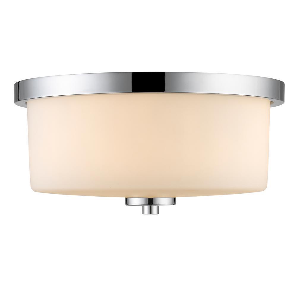 Evette 3-Light Chrome Flush Mount Light