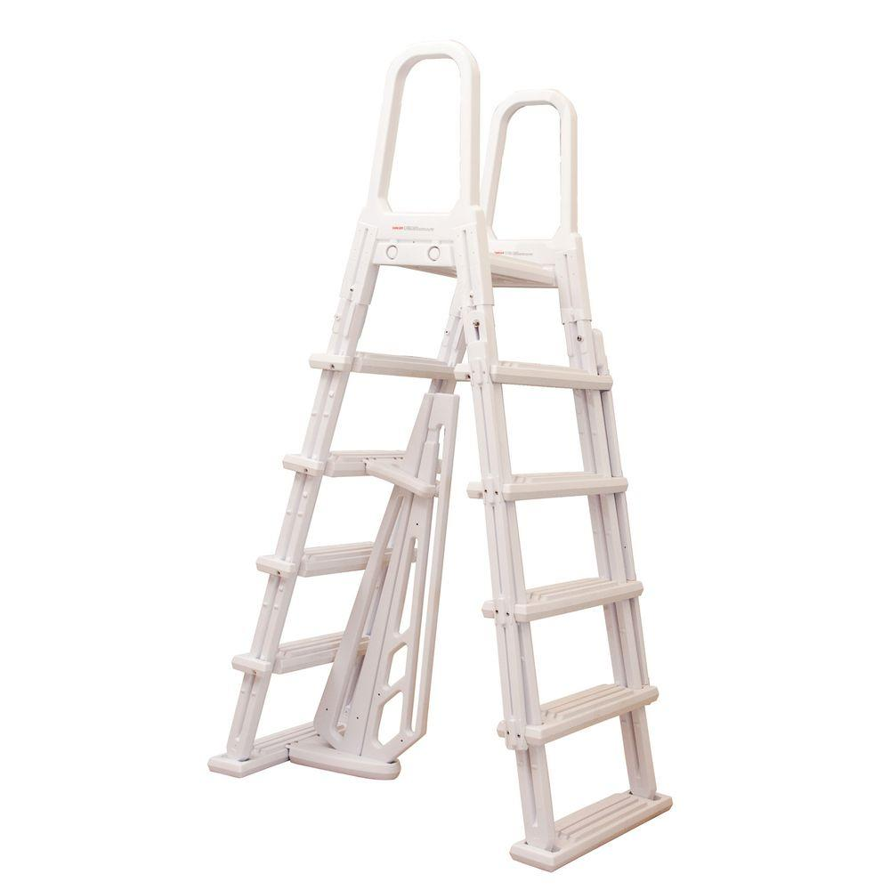 Heritage Calypso A-Frame Ladder for Above Ground Pools 48 in. to 52 ...