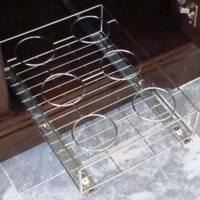 16 in. x 11 in. Chrome Cabinet Pull-Out Bottle Organizer