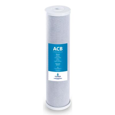 """Express Water – Big Blue Activated Carbon Block Replacement Water Filter – Whole House – 5 Micron – 4.5"""" x 20"""" inch"""