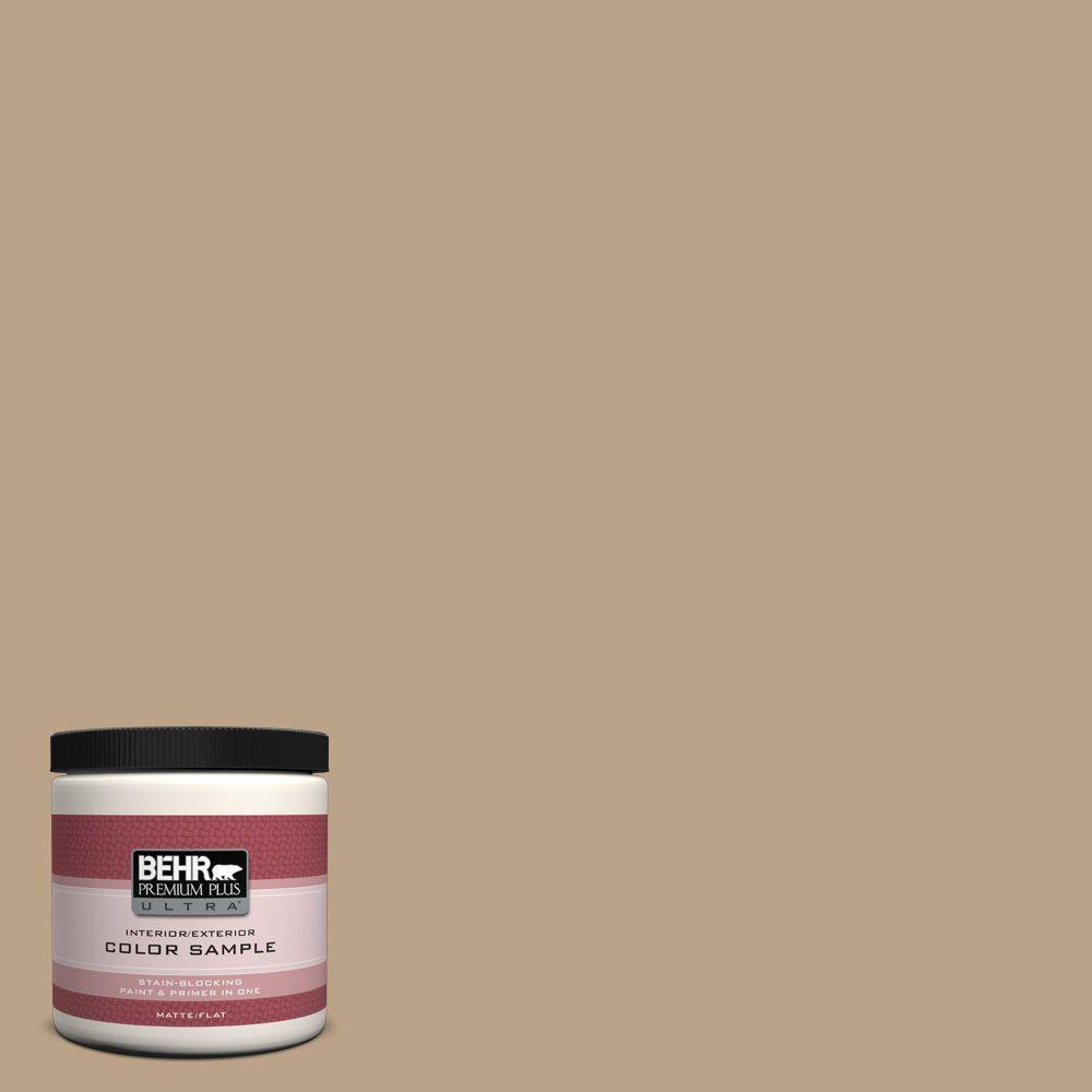 BEHR Premium Plus Ultra 8 oz. #710D-4 Harvest Brown Interior/Exterior Paint Sample