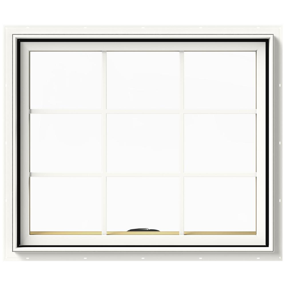 JELD-WEN 36 in. x 30 in. W-2500 Series White Painted Clad ...