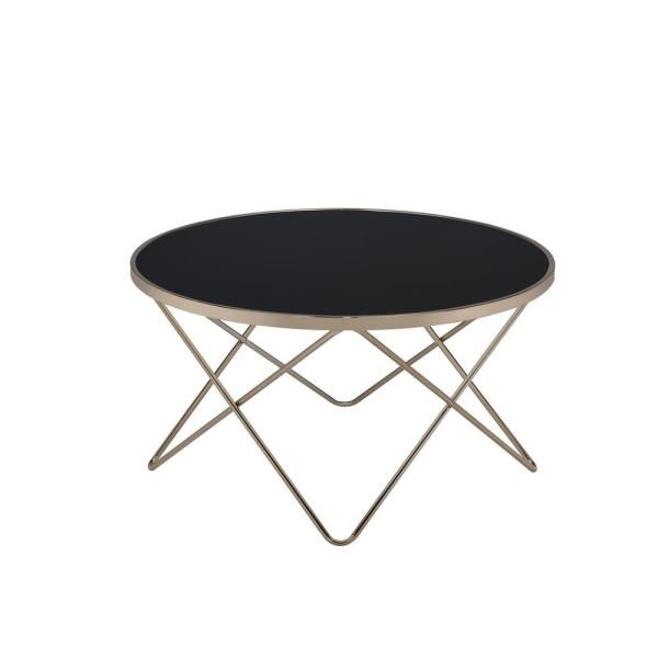 Amelia Black Glass And Champagne Coffee Table