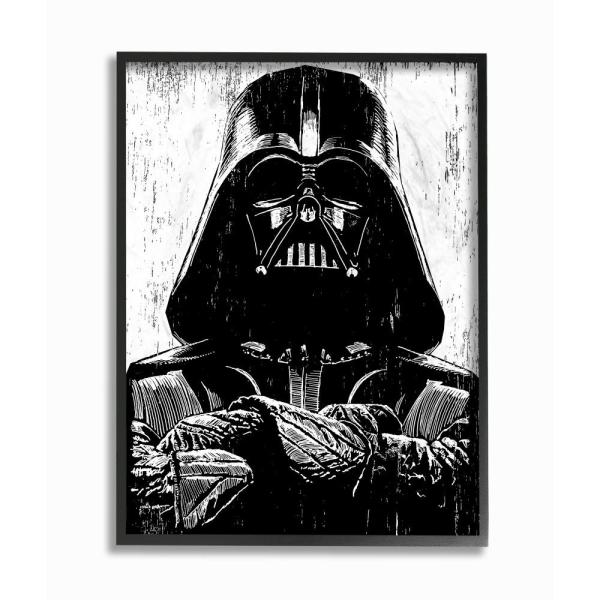 """4 Different Star Wars Canvas Prints 13/""""x 18/""""  On A Wooden Frame"""