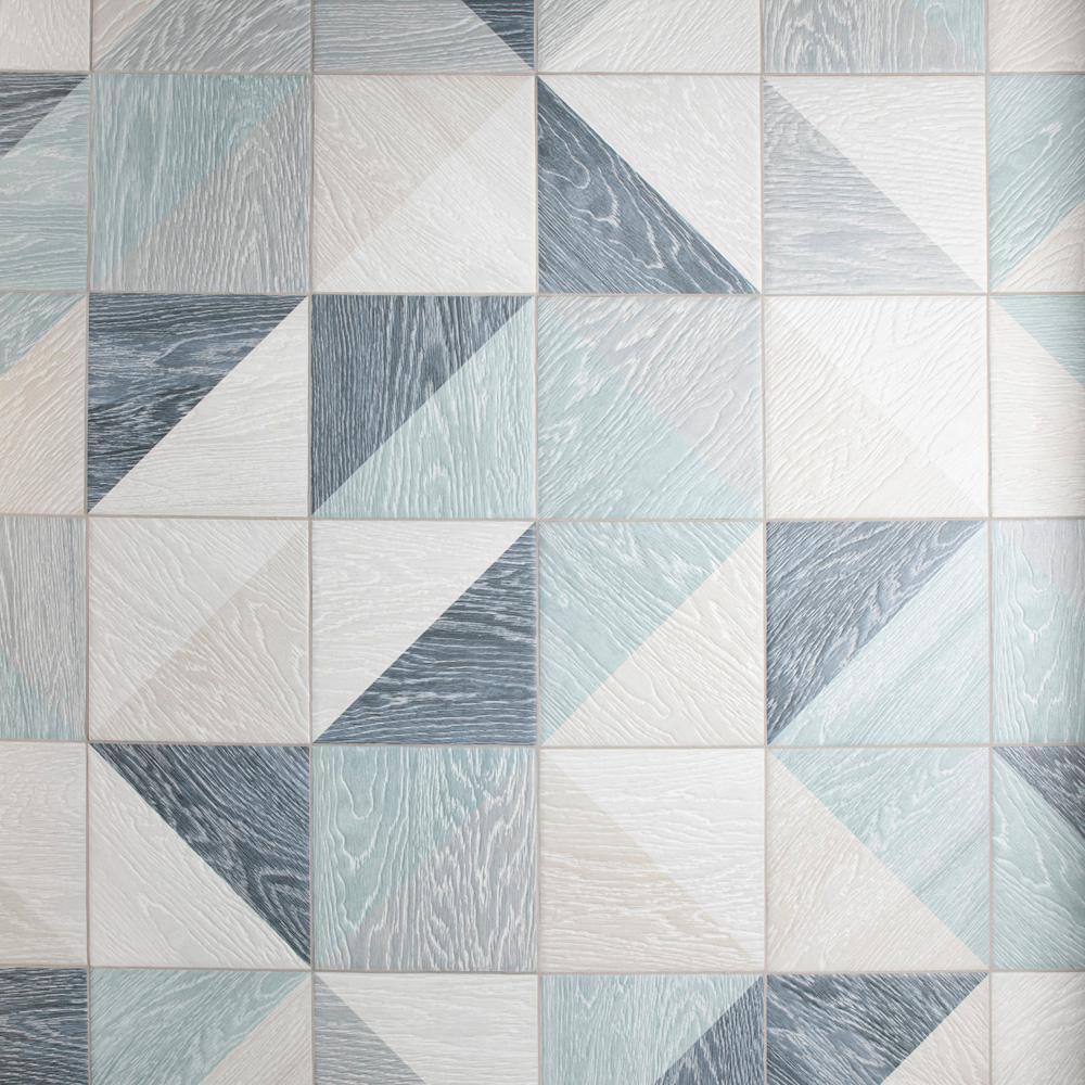 Taco Melange Blue 6-1/2 in. x 6-1/2 in. Porcelain Floor and Wall Tile (6.33 sq. ft. / case)