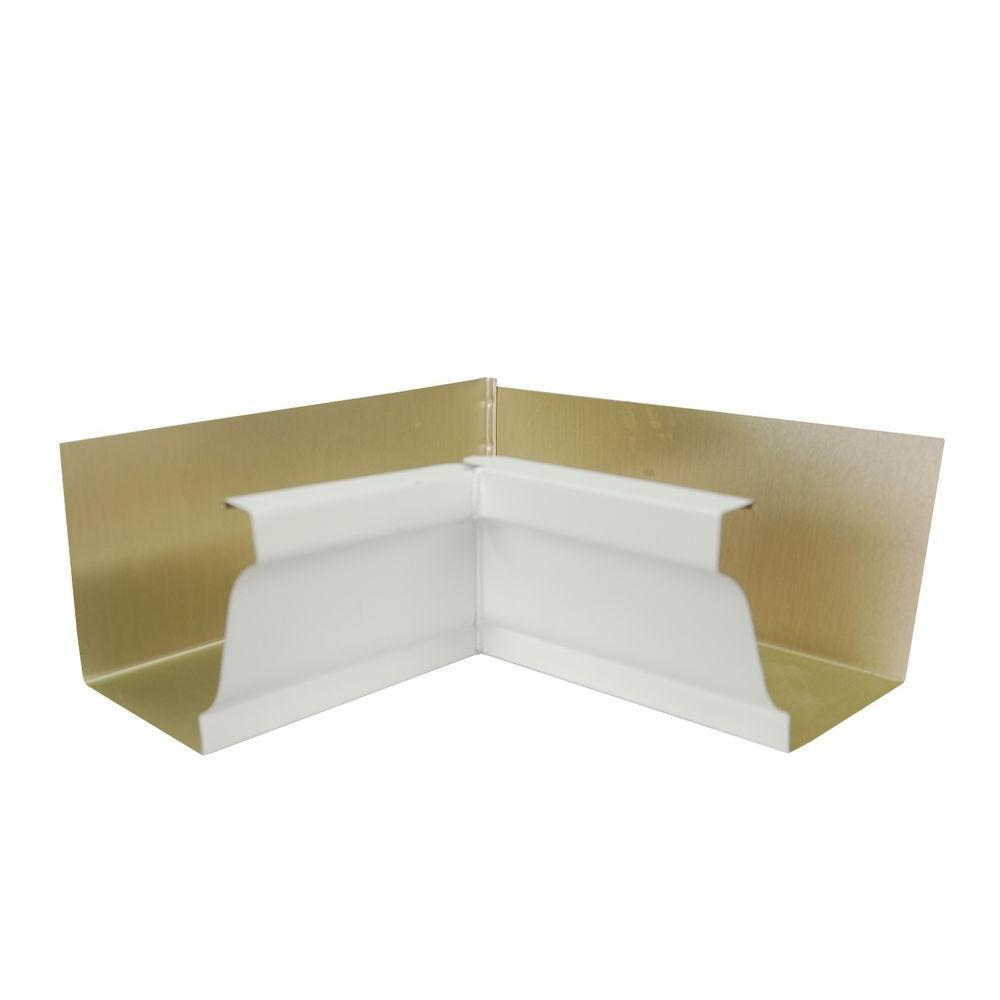 5 in. White Aluminum 30 Degree Inside Miter Box
