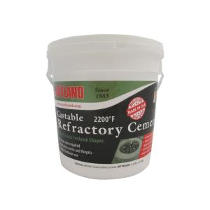 rutland 12 1 2 lbs castable refractory cement tub 600 the home depot