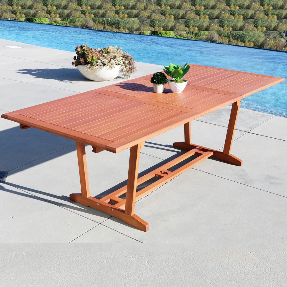 Vifah Malibu Rectangle Extension Outdoor Dining Table