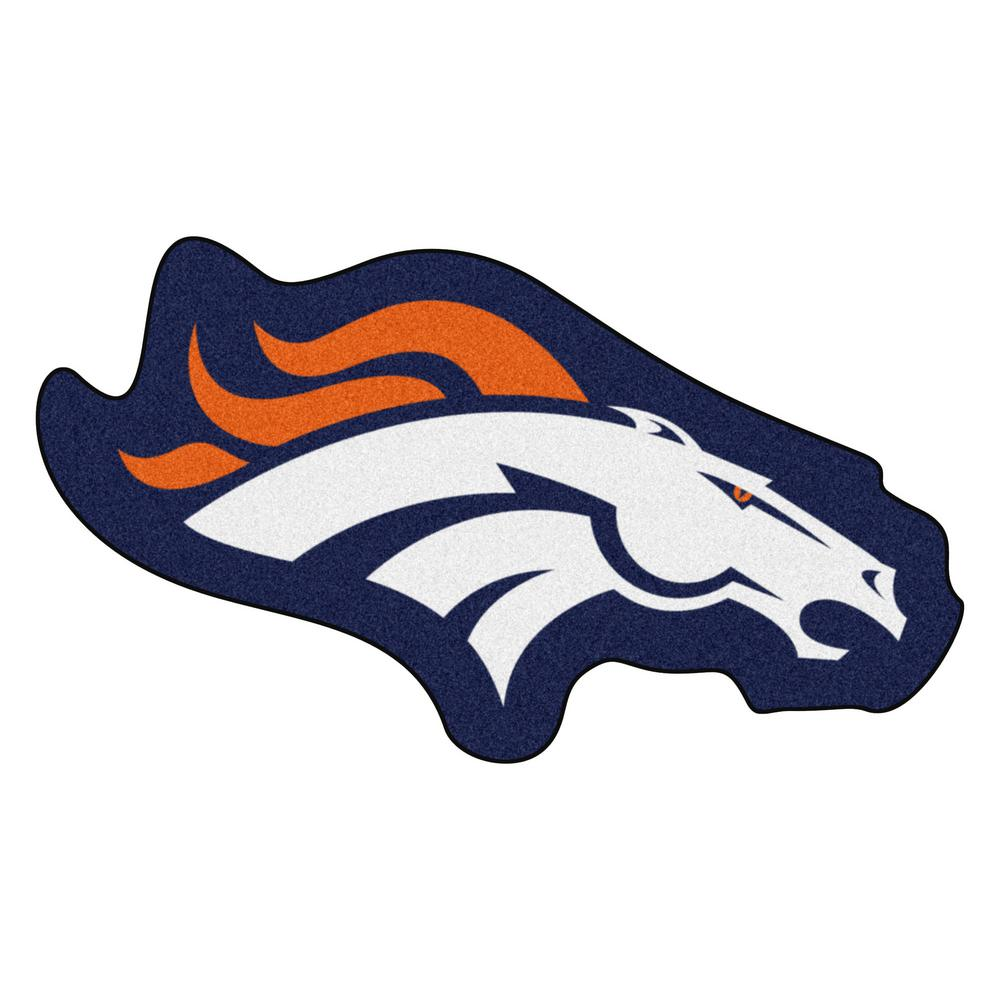 Fanmats Nfl Denver Broncos Mascot Mat 36 In X 20 3 In