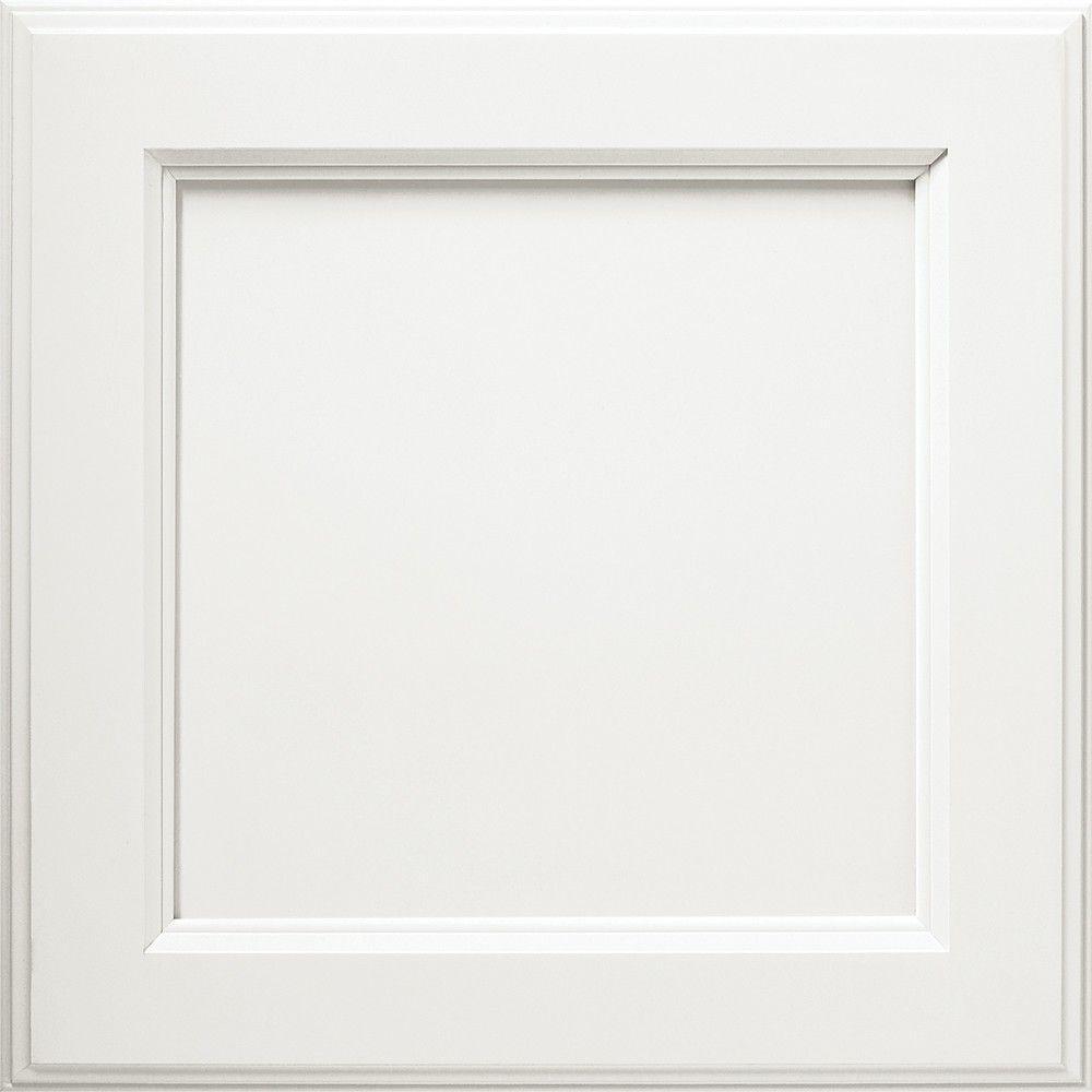 Thomasville 14.5x14.5 in. Cabinet Door Sample in Linden White