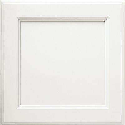 14.5x14.5 in. Cabinet Door Sample in Linden White