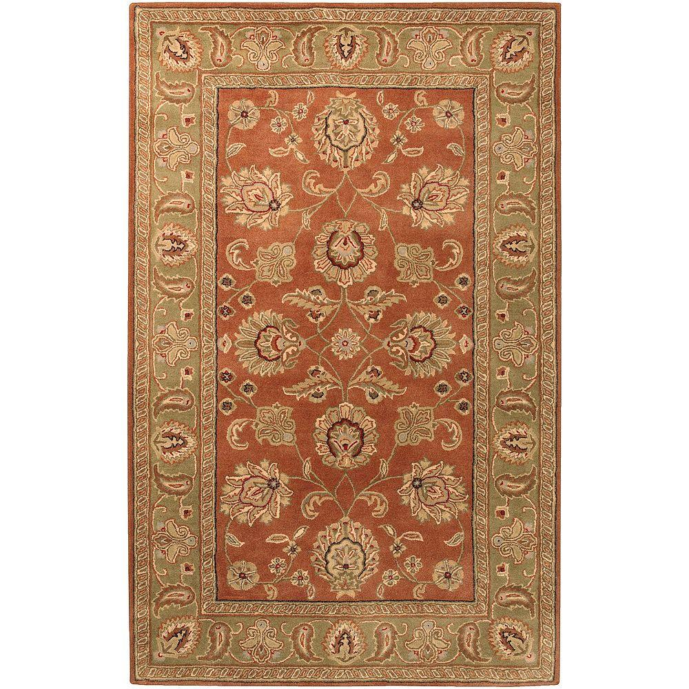 Artistic Weavers Grafton Dark Rust Wool 2 ft. x 3 ft. Area Rug