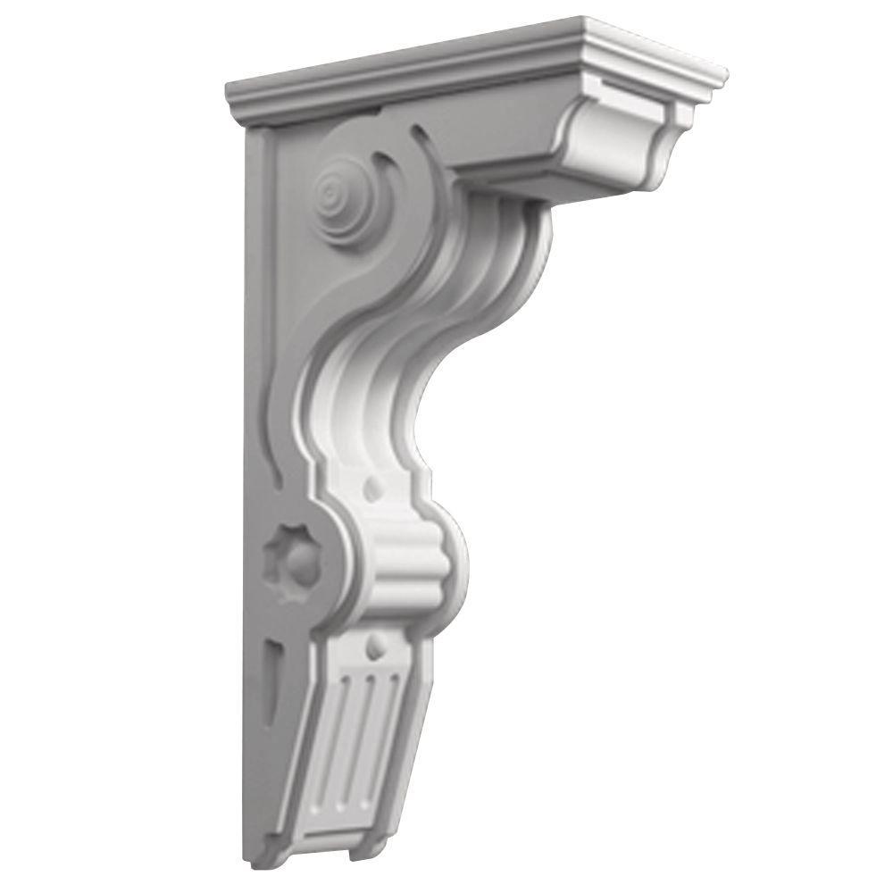 Fypon 22 1 2 in x 26 in x 8 1 2 in polyurethane bracket for Fypon wood beams