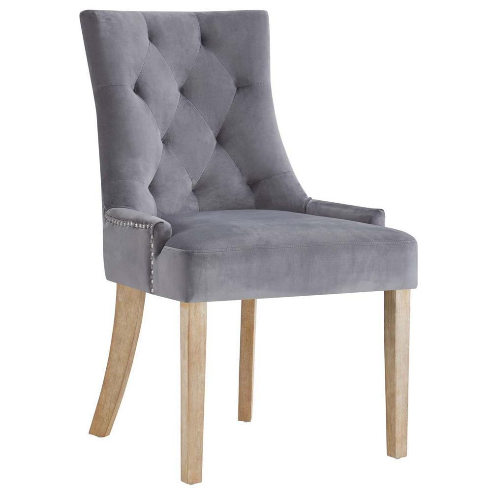 d4ffca9794d MODWAY Pose Gray Upholstered Fabric Dining Chair-EEI-2577-GRY - The ...