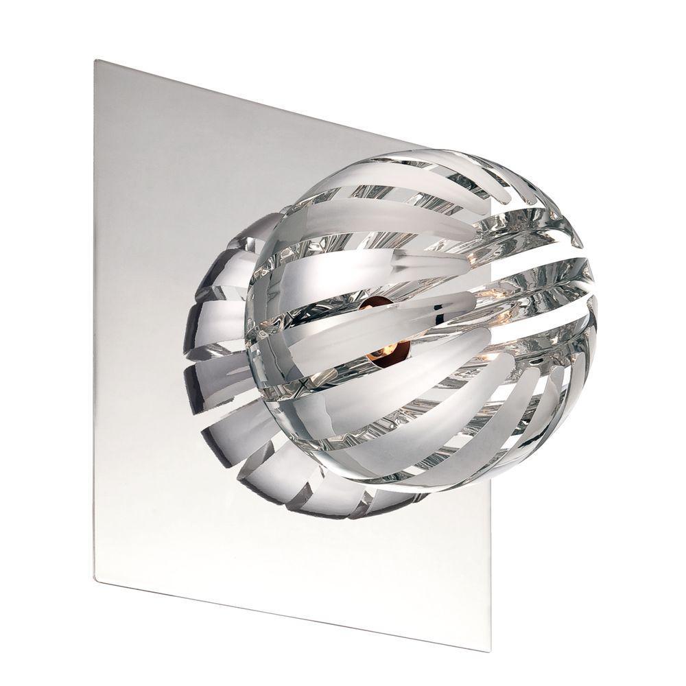 Eurofase Cosmo Collection 1-Light Chrome Wall Sconce