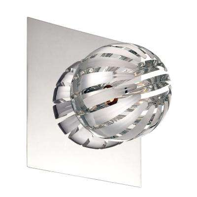 Cosmo Collection 1-Light Chrome Wall Sconce