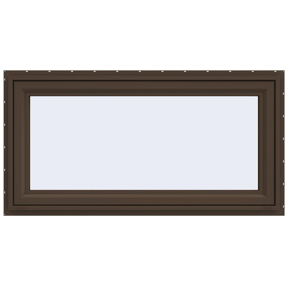 JELD-WEN 47.5 in. x 23.5 in. V-4500 Series Awning Vinyl Window - Brown