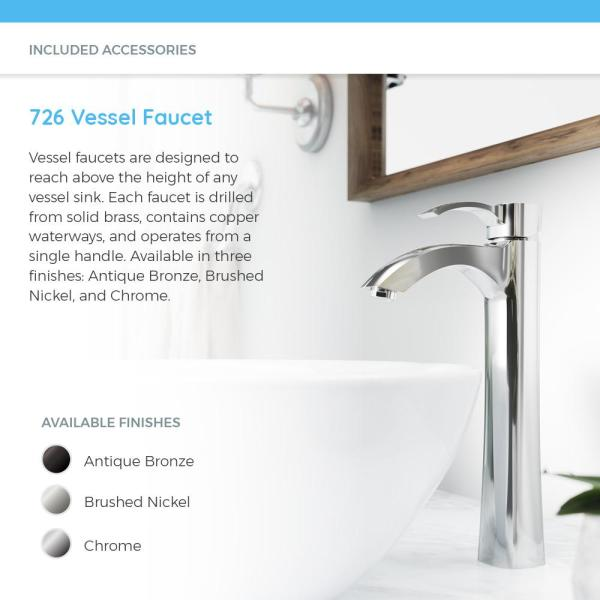 Mr Direct Porcelain Vessel Sink In Bisque With 726 Faucet And Pop Up Drain In Brushed Nickel V360 B 726 Bn The Home Depot