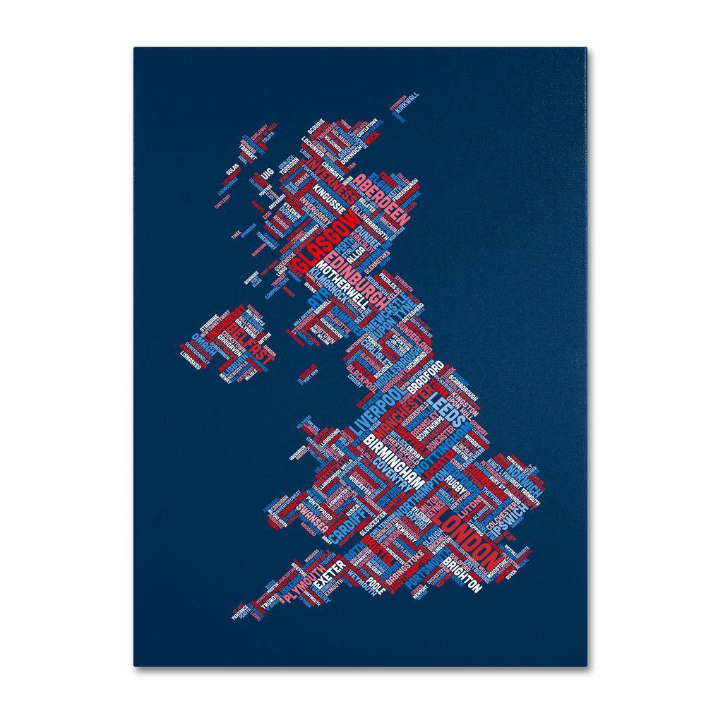 Trademark Fine Art 32 in. x 22 in. United Kingdom VI Canvas Art