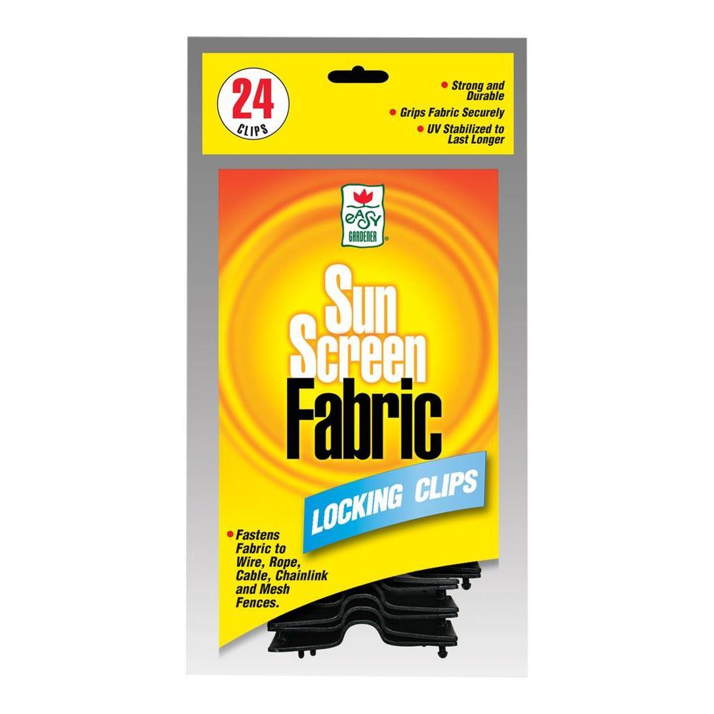 Sun Screen Fabric Shade Locking Clips (24-Pack)
