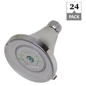 Niagara Conservation Earth Luxe 3 Spray 3 35 In Fixed Round 1 75 Gpm Showerhead In Chrome 24 Pack N3917ch The Home Depot