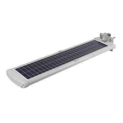50-Watt Silver Motion Activated Outdoor Integrated LED Landscape 4500 Lumens Flood Light with Solar Power