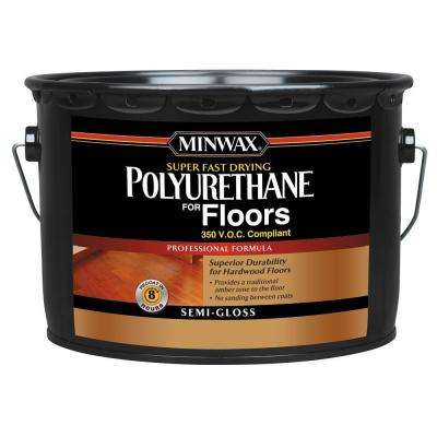 2.5 gal. Semi-Gloss Super Fast-Drying Polyurethane for Hardwood Floors