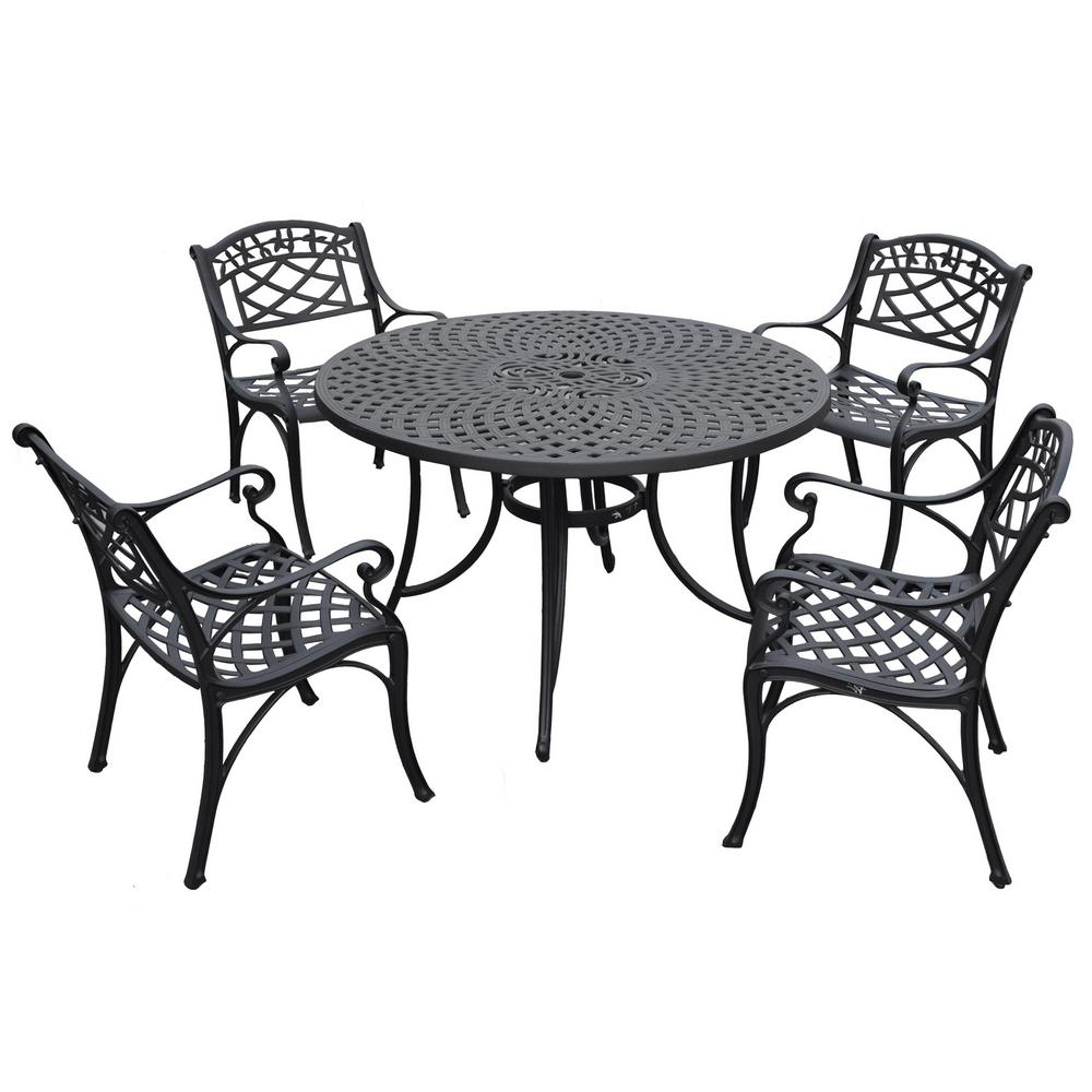Sedona 5 Piece Cast Aluminum Outdoor Dining Set