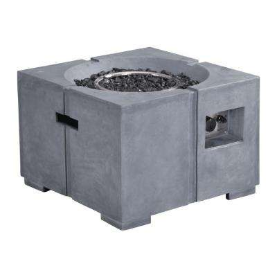 Dante 23.8 in. Fire Glass Rocks Propane Fire Pit in Gray