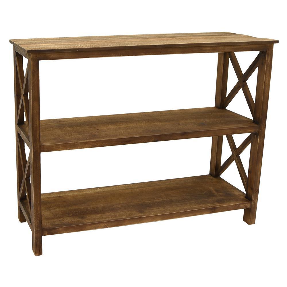 34 in. Brown Wood Shelf