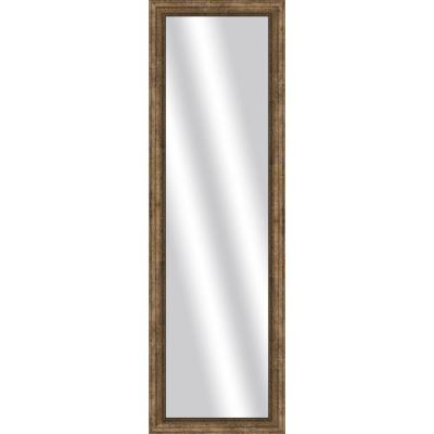 Large Rectangle Dark Champagne Art Deco Mirror (53 in. H x 17 in. W)