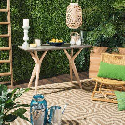 Ragna Dark Gray Stone Indoor/Outdoor Side Table