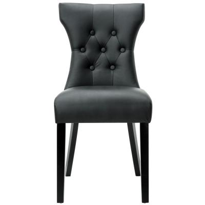 Silhouette Black Dining Vinyl Side Chair