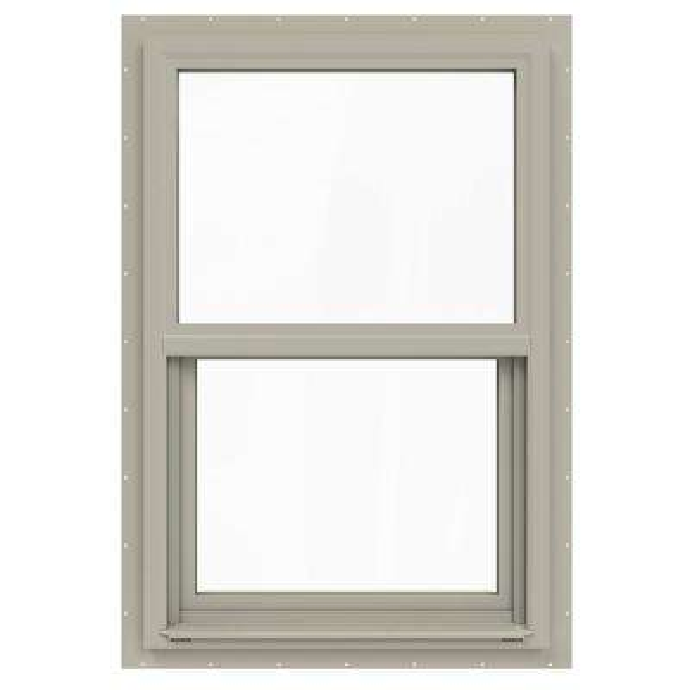 24 in. x 36 in. V-4500 Series Desert Sand Single-Hung Vinyl Window with Fiberglass Mesh Screen