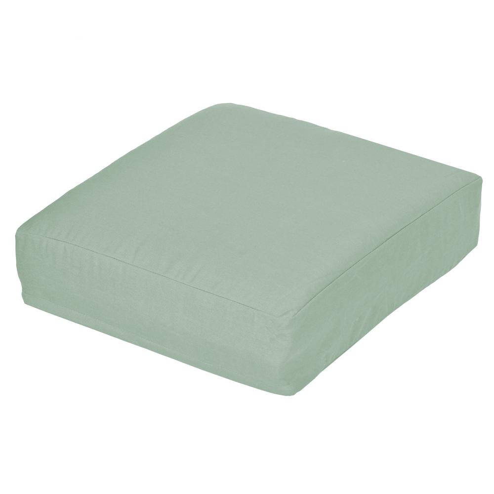 Oak Cliff Sunbrella Spectrum Mist Replacement Outdoor Ottoman Cushion