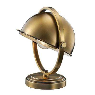 10.5 in. Antique Brass Mini Task Lamp